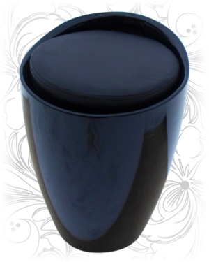 Табурет 1100 черный с местом для хранения
