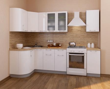 Кухонный гарнитур Фьюжн глянец белый