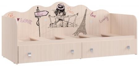 Кровать с ящиками Париж