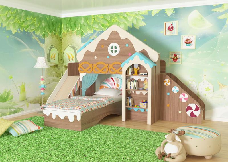 Модульная детская Пряничный домик №1