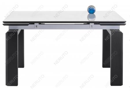 Стеклянный стол Даос белый / венге
